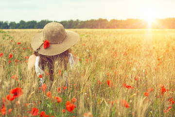 Obraz poppies field - fototapety do salonu