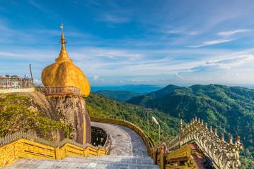 Kyaikhtiyo pagoda or Golden rock in Myanmar