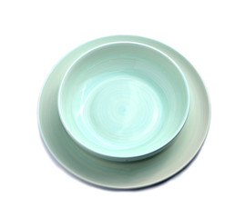 Plate bowl with white background