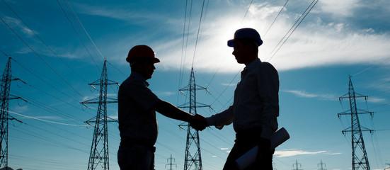 electricity station handshake