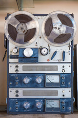 old reel to reel recording machine .filtered image.