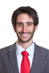 Portrait eines Mannes mit Anzug und Bart