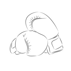 Doodle style boxing illustration in vector format.
