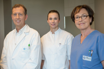 Portrait of medical-team smiling