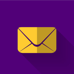 colorful flat design email icon