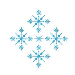 Delicate digital blue snowflake design