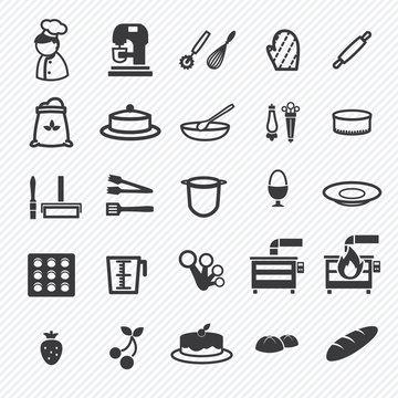 Bakery icons set. illustration eps10