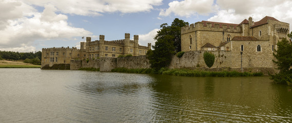 west view of Leeds castle, Maidstone, England