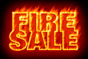 fire sale in flames