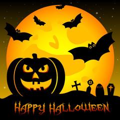 Festive illustration on theme of Halloween. Trick or treat