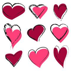 Set of abstract hearts