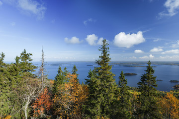 Wall Mural - Autumnal view from Koli TO Lake Pielinen