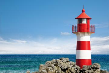 Leuchtturm am Ozean