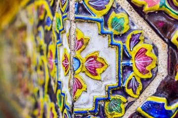 Deurstickers Graffiti colorful tiles patterns