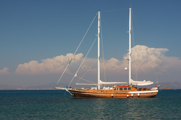 yatch in Mediterrenean