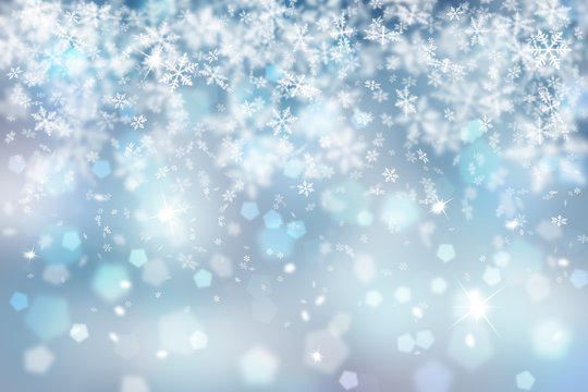 Abstract blurry snowflake