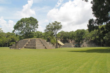 The ancient Mayan archaelogical site of Copan, in Honduras
