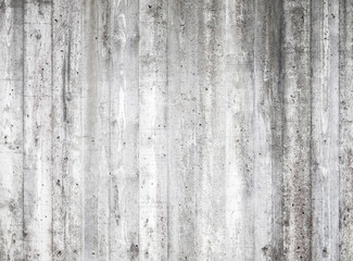 Gray concrete wall with wooden formwork pattern
