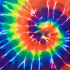 Wall Mural - colorful tie dye fabric texture background in square ratio