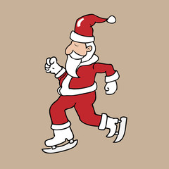 Ice skate Santa
