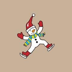 Skate snowman