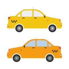 Vector graphic taxi car flat design.