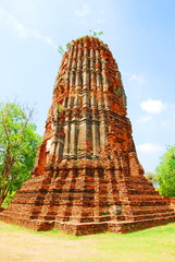 AYUTTHAYA-THAILAND- : Ruins of the monastery, ruins of the old p