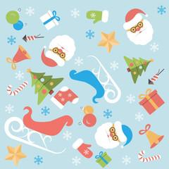Christmas background flat design