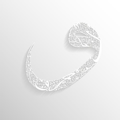 Arabic calligraphy letters Vector