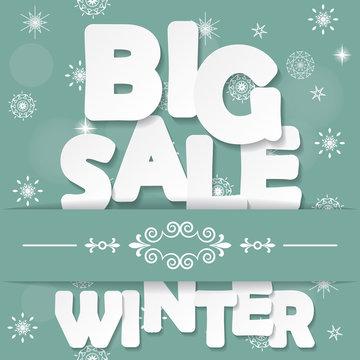 Big winter sale background.