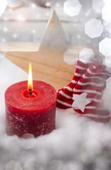 Weihnachten, Kerze, Weihnachtsstern