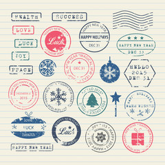 New Year stamps set