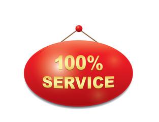 Sign -100% service.