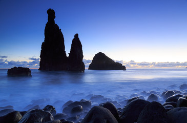 Cliffs at the Madeira coast at Ribeira da Janela.