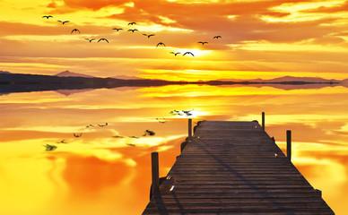 cuando el lago se queda solo y en paz