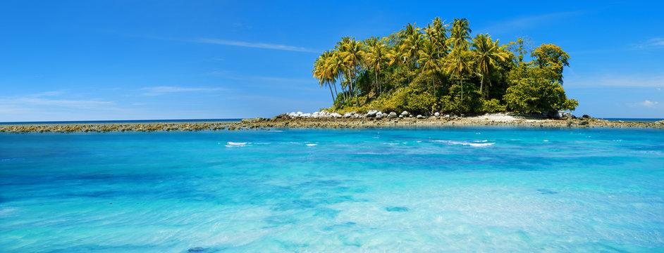 Exotic tropical island