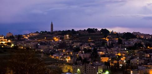 Jerusalem, Israel - night view