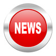 news red circle chrome web icon isolated