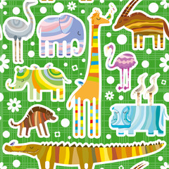 African Animals Pattern