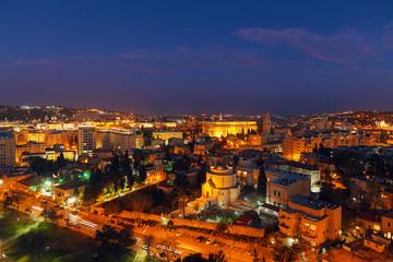 Jerusalem Old City at Night, Israel