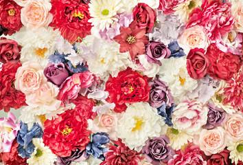 Mnóstwo kolorowych kwiatów