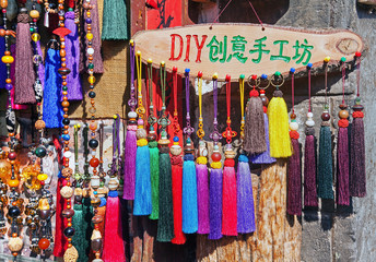 Hand made Naxi's souvenirs. Lijiang, China.