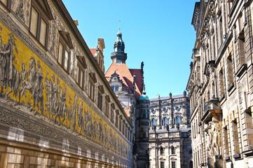 The Fuerstenzug (giant mural) in Dresden, Germany