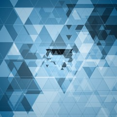 Bright blue tech futuristic triangles design