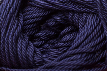 Color yarn close up