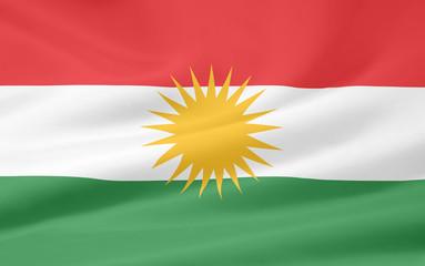 Flagge der Kurden