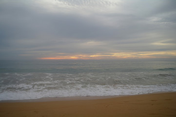 view of evening over sea beach