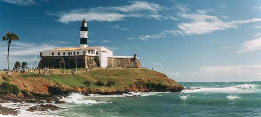 Barra Lighthouse (Farol da Barra) in Salvador, Bahia, Brazil . Wall mural