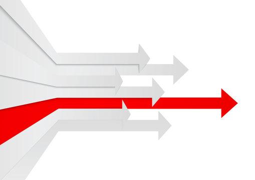 Perspective arrows leadership concept