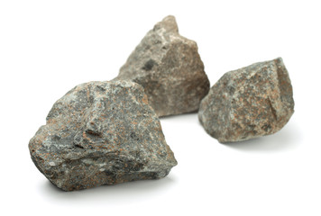 Three pieces of raw rocks